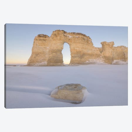 Winter Morning At Monument Rocks Canvas Print #DWP274} by Darren White Photography Canvas Wall Art
