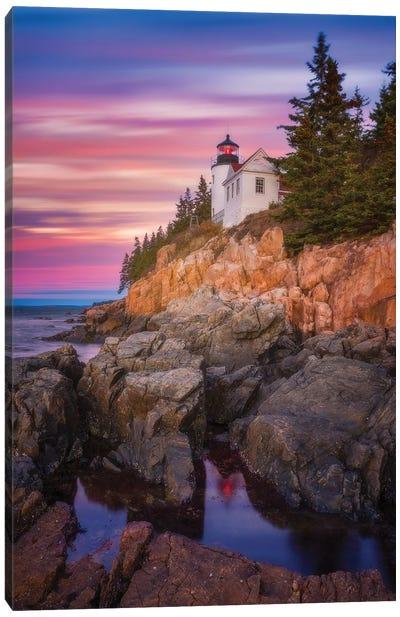 Bass Harbor Sunrise Canvas Art Print
