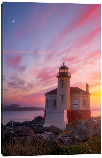Lighthouse Moon Canvas Art Print