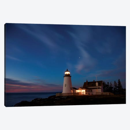 Pemaquid Dawn Canvas Print #DWP4} by Darren White Photography Canvas Print