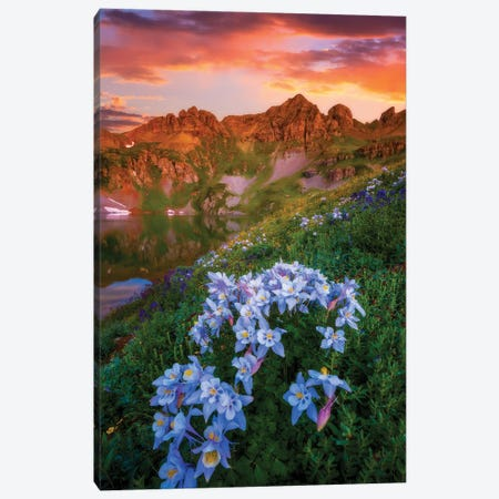Clear Lake Summer Canvas Print #DWP50} by Darren White Photography Canvas Wall Art