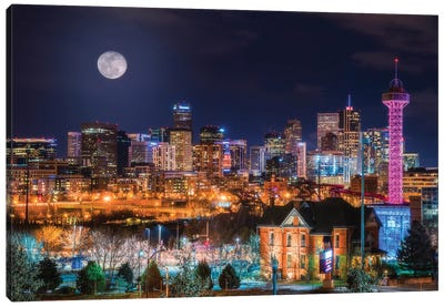 Denver Moon Canvas Art Print