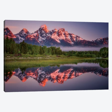 Teton Awakening Canvas Print #DWP7} by Darren White Photography Canvas Print