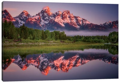 Teton Awakening Canvas Art Print