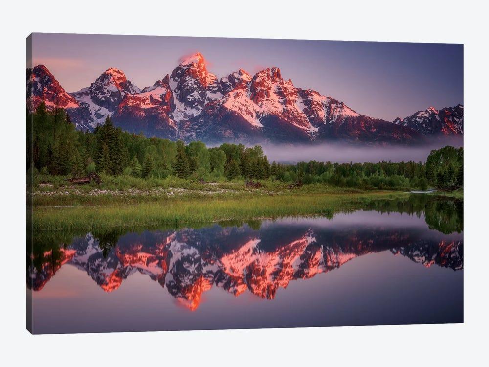 Teton Awakening by Darren White Photography 1-piece Canvas Artwork