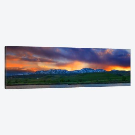Front Range Light Show Canvas Print #DWP93} by Darren White Photography Canvas Art