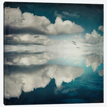 Spaces II - Sea Of Clouds Canvas Print #DWU6} by Dirk Wuestenhagen Canvas Artwork
