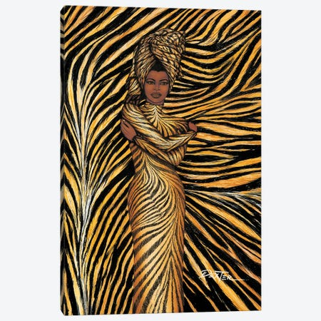 Tiger Inspired Fashion Canvas Print #DXG2} by Dexter Griffin Canvas Art Print