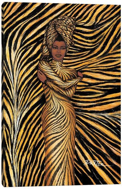Tiger Inspired Fashion Canvas Art Print