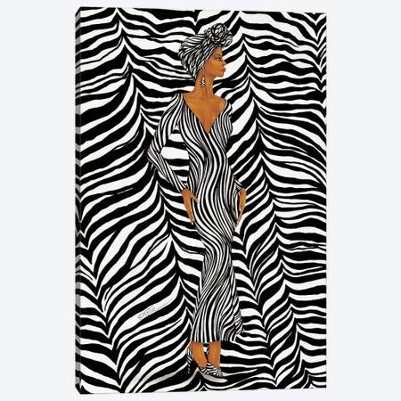 Zebra Inspired Fashion Canvas Print #DXG3} by Dexter Griffin Art Print