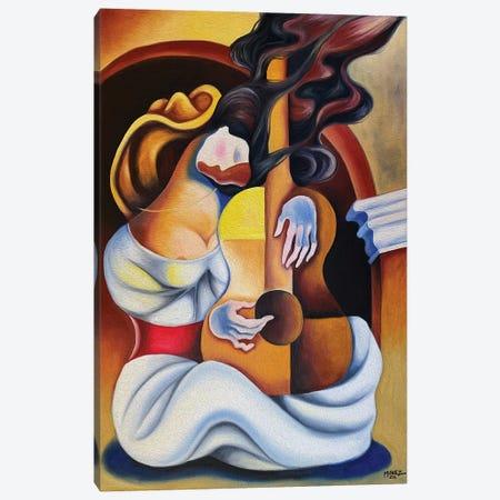 Dream With Guitar Canvas Print #DXM11} by Dixie Miguez Canvas Art Print