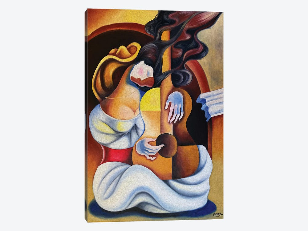 Dream With Guitar by Dixie Miguez 1-piece Canvas Print