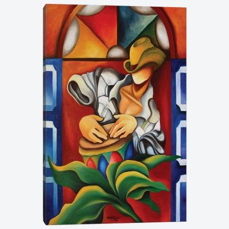 Drum And Stainglass 3-Piece Canvas #DXM12} by Dixie Miguez Canvas Print