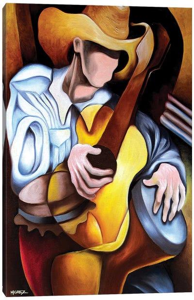 Guitar Drum Abstract Canvas Art Print