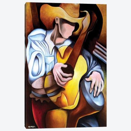 Guitar Drum Abstract Canvas Print #DXM18} by Dixie Miguez Art Print