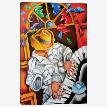 Piano Forte Canvas Print #DXM26} by Dixie Miguez Art Print