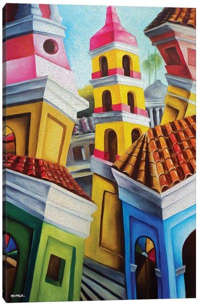 Remedios Cuban Old Town Canvas Art Print