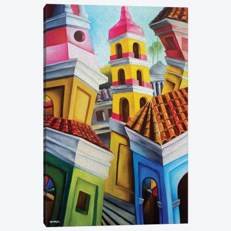Remedios Cuban Old Town Canvas Print #DXM29} by Dixie Miguez Canvas Artwork