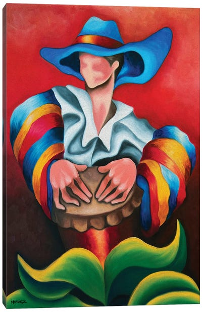 Blue Hat Canvas Art Print