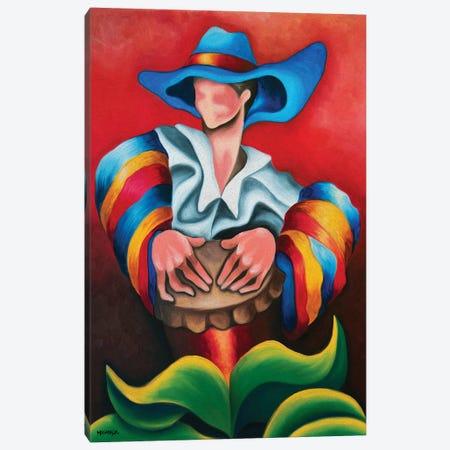 Blue Hat Canvas Print #DXM2} by Dixie Miguez Canvas Art Print