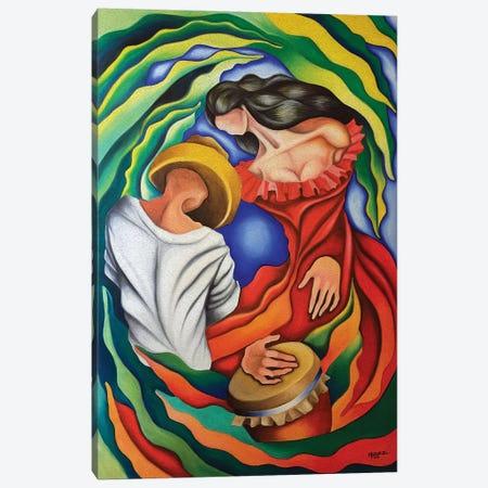 Rumba Guajira Canvas Print #DXM35} by Dixie Miguez Canvas Art