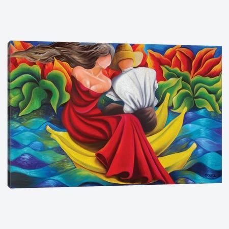 Sailing On Bananas Canvas Print #DXM37} by Dixie Miguez Canvas Artwork