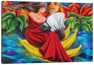 Sailing On Bananas Canvas Art Print
