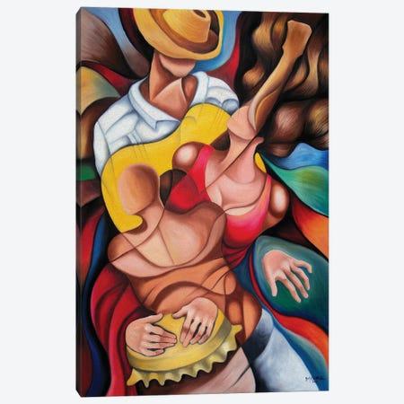 Bodies In Rumba Canvas Print #DXM3} by Dixie Miguez Canvas Art Print