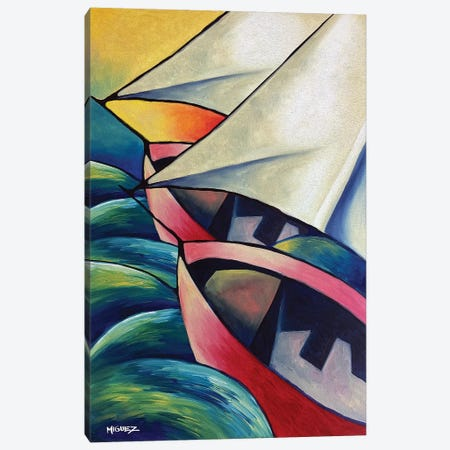 The Boats Canvas Print #DXM41} by Dixie Miguez Canvas Art