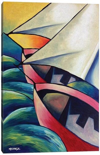 The Boats Canvas Art Print