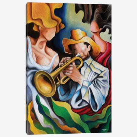 The Trumpet's Muses Canvas Print #DXM44} by Dixie Miguez Art Print