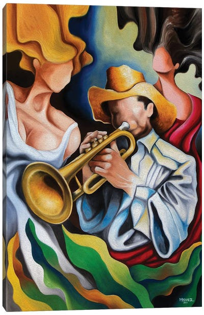 The Trumpet's Muses Canvas Art Print