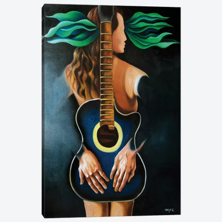 Troubadour's Muse Canvas Print #DXM46} by Dixie Miguez Canvas Print