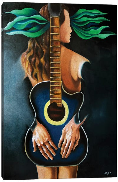Troubadour's Muse Canvas Art Print