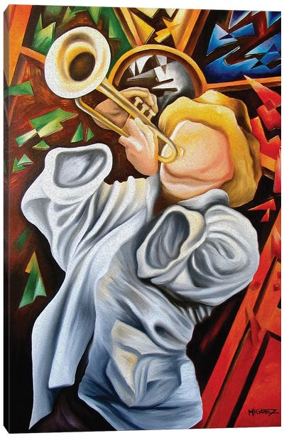 Trumpet Canvas Art Print