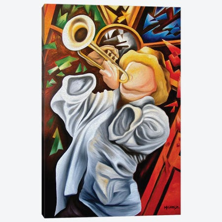 Trumpet Canvas Print #DXM47} by Dixie Miguez Canvas Art Print