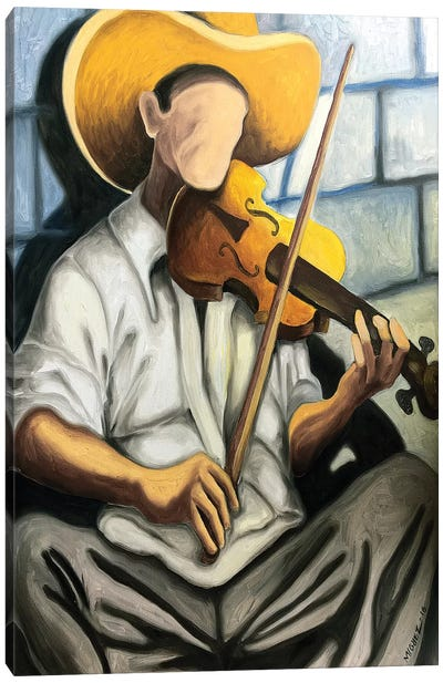 Violin Player Canvas Art Print