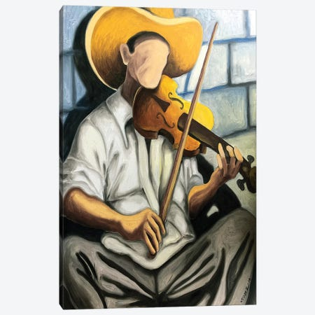 Violin Player 3-Piece Canvas #DXM49} by Dixie Miguez Canvas Art