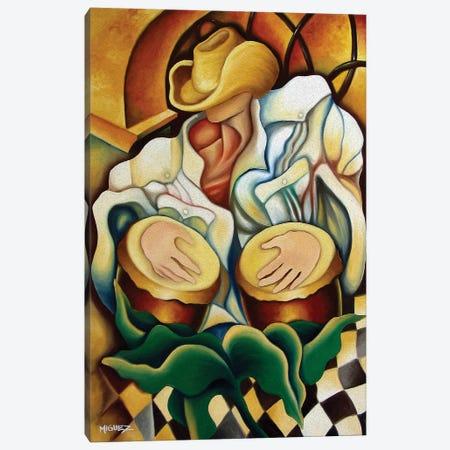 Bongos Canvas Print #DXM4} by Dixie Miguez Canvas Wall Art