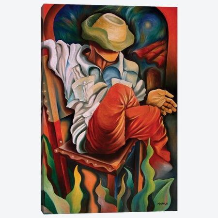 Waiting For Better Times Canvas Print #DXM50} by Dixie Miguez Art Print