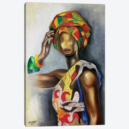 African Cuban Female Canvas Print #DXM51} by Dixie Miguez Canvas Print