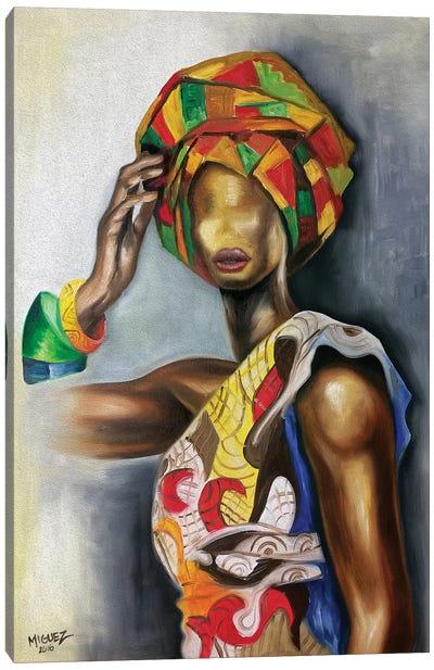 African Cuban Female Canvas Art Print