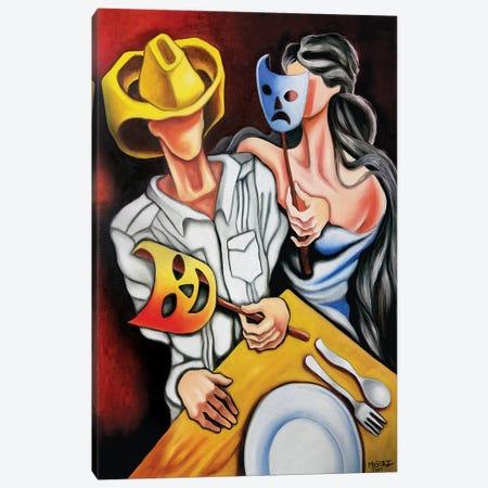 Bad Weather Good Face. Canvas Print #DXM52} by Dixie Miguez Canvas Art Print