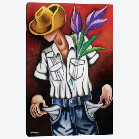 Only Love To Give Canvas Print #DXM54} by Dixie Miguez Canvas Art