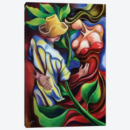 Dancing In Countryside Canvas Print #DXM55} by Dixie Miguez Canvas Artwork