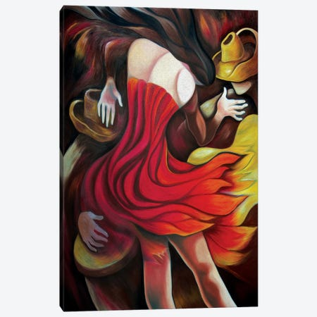 Rumba Of Fire. Canvas Print #DXM57} by Dixie Miguez Canvas Wall Art