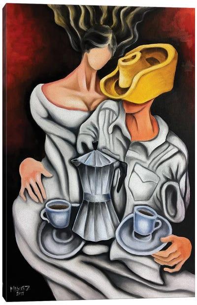 Coffee And Coffeemaker Canvas Art Print