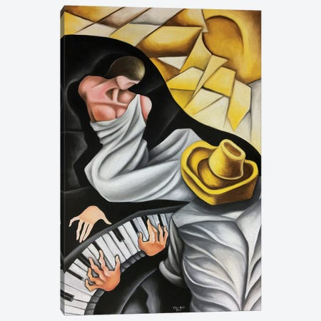 The Muse Of The Pianist Canvas Print #DXM60} by Dixie Miguez Canvas Art