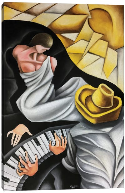 The Muse Of The Pianist Canvas Art Print