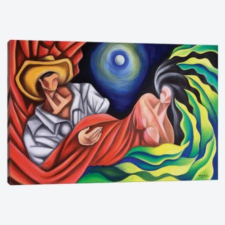 The Moon Between Us Canvas Print #DXM61} by Dixie Miguez Canvas Art